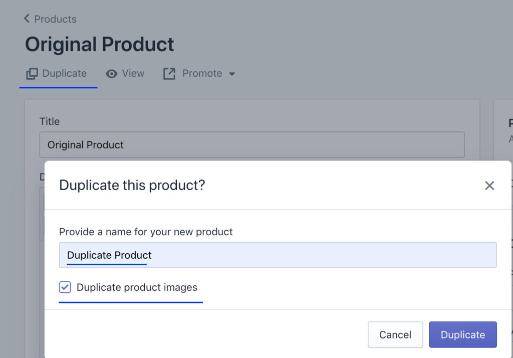 Duplicating Shopify Product