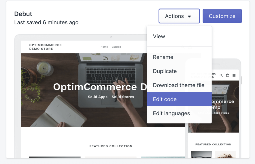 Editing Shopify Theme Code