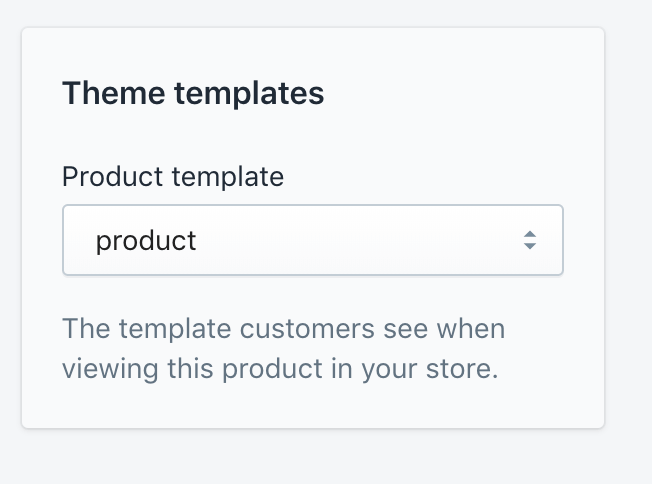 Finding out what product template you are using in Shopify